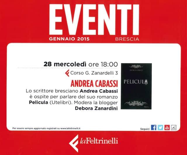 Pelicula presentato a Feltrinelli Brescia