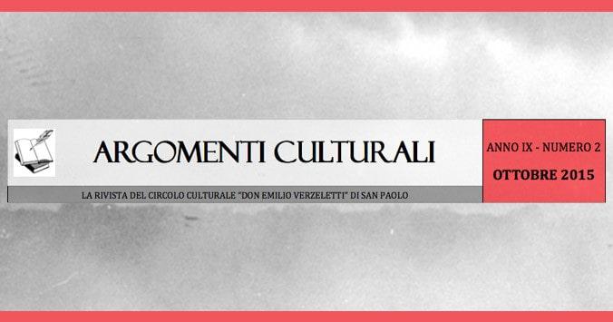 Argomenti Culturali anno IX numero 2