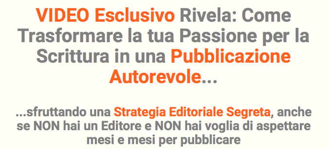 Self Publishing Vincente - Video esclusivo